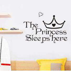 Wall Stickers For Kids Room : The Princess Sleeps Here