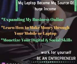 Earn using phones and laptop