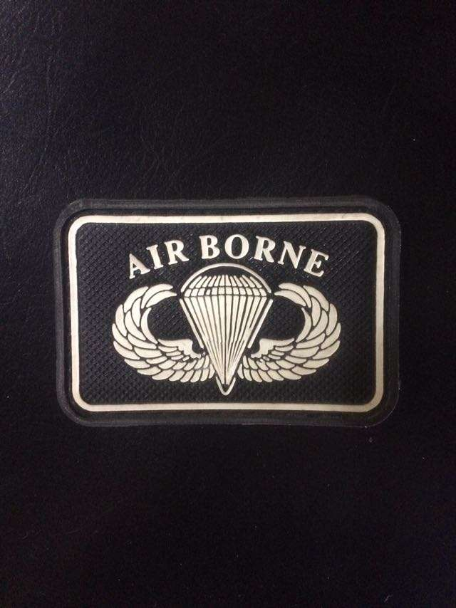 Patch Emblem Velcro Airborne Tactical Militer Army 0