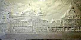 Golden temple relief sculpture
