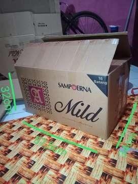 Kardus dus box bekas rokok buat BBM packing pindahan