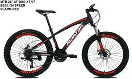 Kami menjual sepeda baru mtb aviator ukurannya 26 terbaru