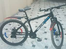 It is red black combination cycle with modifications