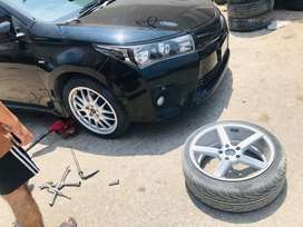 18inch rims with low profile tyre