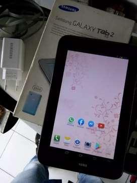 Samsung tab2 (1 kartu ram 1GB memori tlp 16GB siap pakai)
