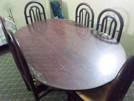 Wooden 6 chair Dinning table for sale