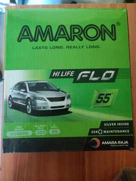 New AMARON hi life flo car battery for Swift Ritz wagon R petrol