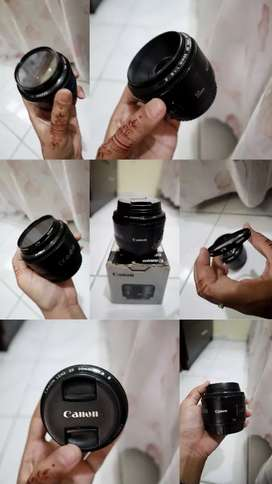 Lensa fix canon 50 mm