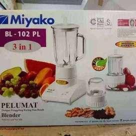 PROMO YAA -PELUMAT BLENDER MIYAKO BL 102PL 3IN1 MIKA BASAH KERING-OK