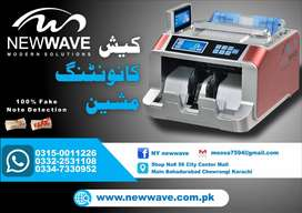 NW 728 cash & value counting machine 100% fake note detection, lockers