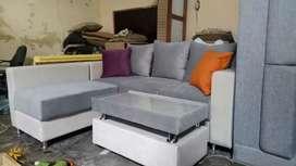 Sofa L -minimalis +meja (maulida sofa)