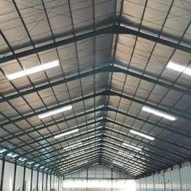 Servis atap pabrik/gudang bocor dll