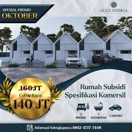 Rumah Subsidi Murah dengan Desain Minimalis, poros jalan  di Malang