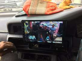 TV Mobil KIjang Grand 9inch Android youtube tiktop maps gratis masang