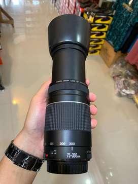 Jual Lensa Tele Canon 75-300mm mulus rasa baru