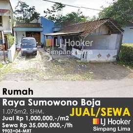 Tanah murah rumah di Sumowono-Boja cocok untuk Investasi