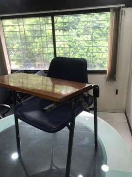 Study chair with folding desk