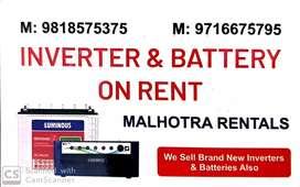 RENT- INVERTER & BATTERIES FROM MALHOTRA RENTALS..