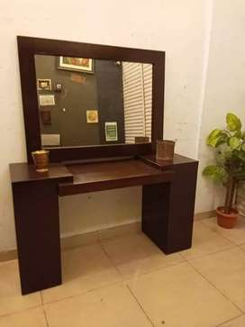 Console and wall mounted mirror