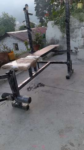 8 in 1 bench with 20 kg weights