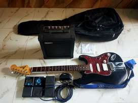Hertz electric guitar with amp and processor