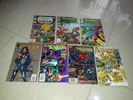 Komik import super hero era tahun 1993 1996,ada 7 biji full warna