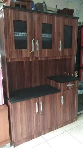 Kitchen Set Lemari Makan / Piring Kokoh Elegant 120x40x180 LMC148