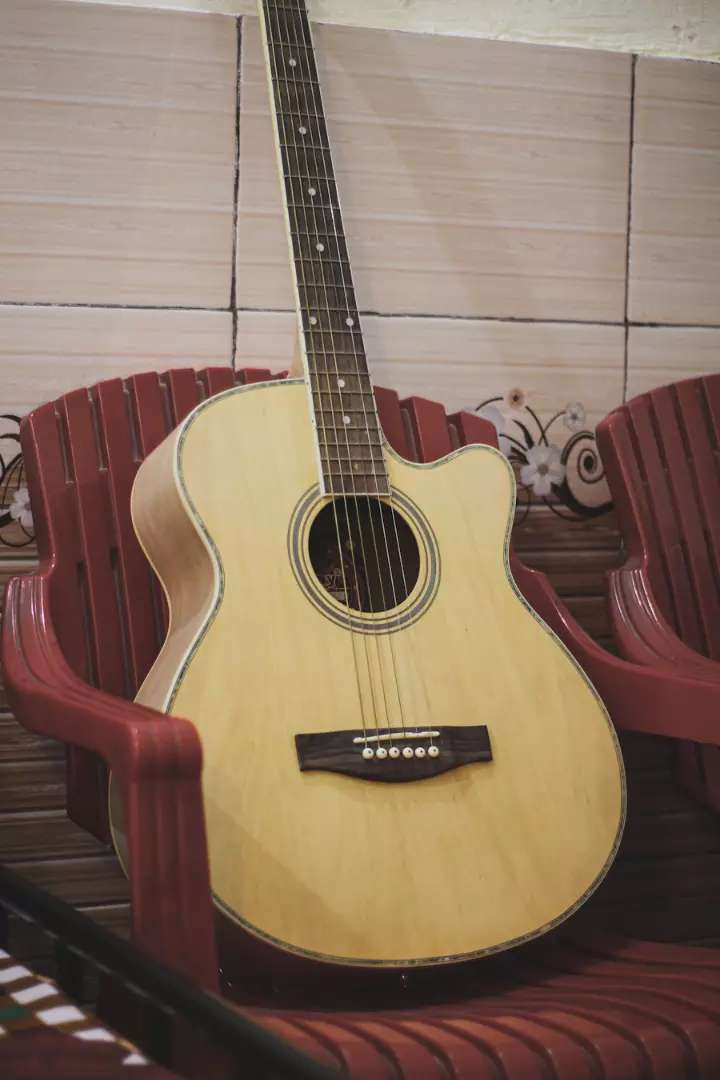 Genuine Wooden Guitar In matte finish up for sale 0