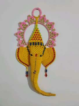 Home decor ganpati made from micron rope