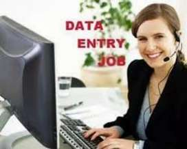 Data entry work home base job computer and laptop is must
