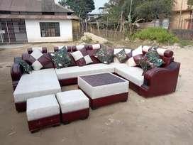 L Tape sofa satt