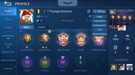 AKUN MOBILE LEGENDS SEASON 1 ALL UNBIND EMBLEM HAMPIR MAX