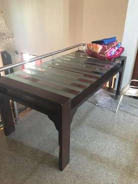 Sagwan 8 chaired dining table