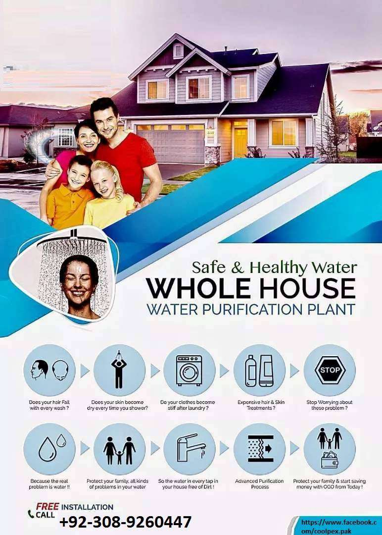 Water Purification Plant - Safe & Healthy Water 4 Whole House Imported