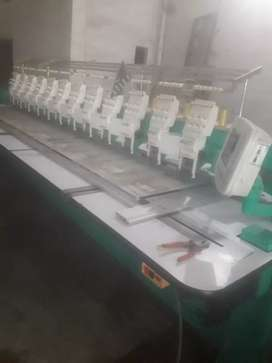 New embroidery machine recondition 12hd for sale