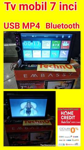 No DVD Embassy Tv mobil double 2 din layar sentuh 7 inci USB Mp4 tape