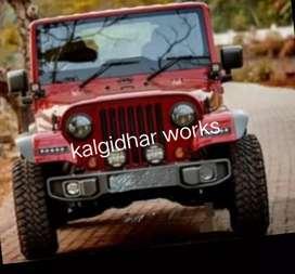 Thar modified mahindra jeep