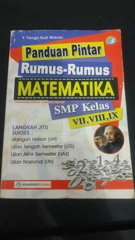 Buku Panduan pintar matematika SMP kelas VIII,VIII,IX