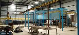 Used and new Powder coating plant , conveyor