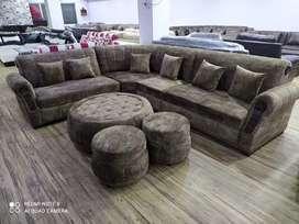 BAJAJ FINANCE 0 EMI 9 seater sofa with center table
