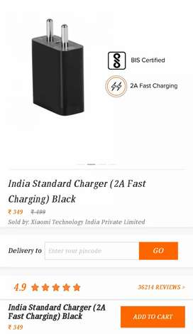 Xiaomi Redmi 5V ~ 2amp charger+cable at Rs350 only