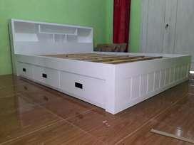 Ranjang/tempat tidur minimalis dengan laci #101