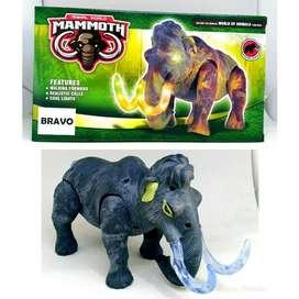 Mainan Anak Gajah MAMMOTH Animal World / Robot Gajah Jalan Lampu