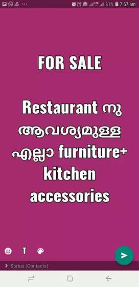 Restaurant furniture and accessories