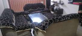 9 Sutter sofa with table with sofa cover 5 years old