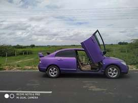 Modified civic with lambo doors