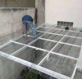 Pembuatan kanopi baja ringan dan rangka atap baja ringan