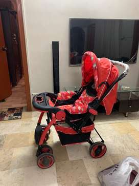 Baby Stroller Red Colour