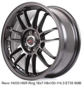 jual velg murah merk REVO 14033 HSR R16X7 H8X100-114,3 getz