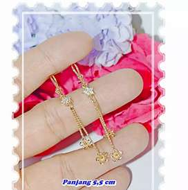 Xuping anting Bunga jurai gold